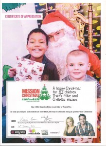 Mission Christmas - Thank You.