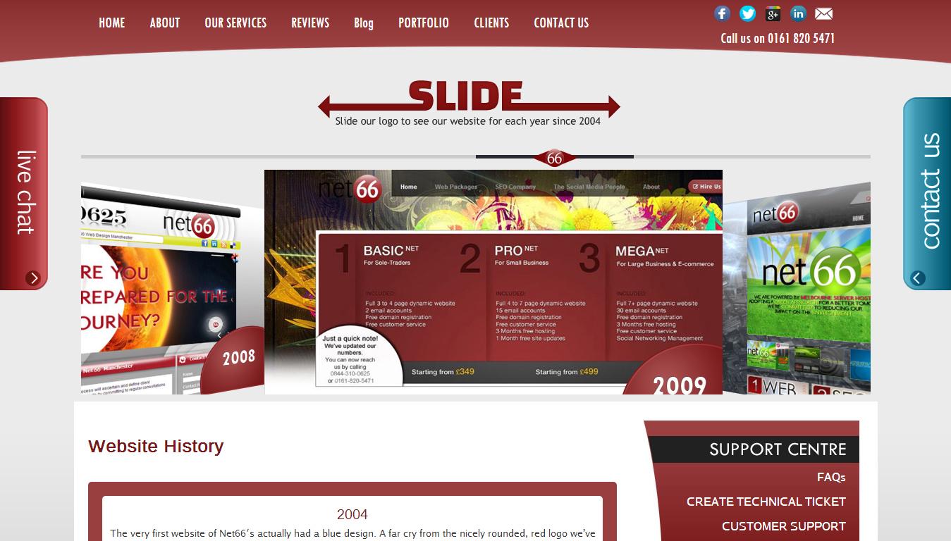 website-history