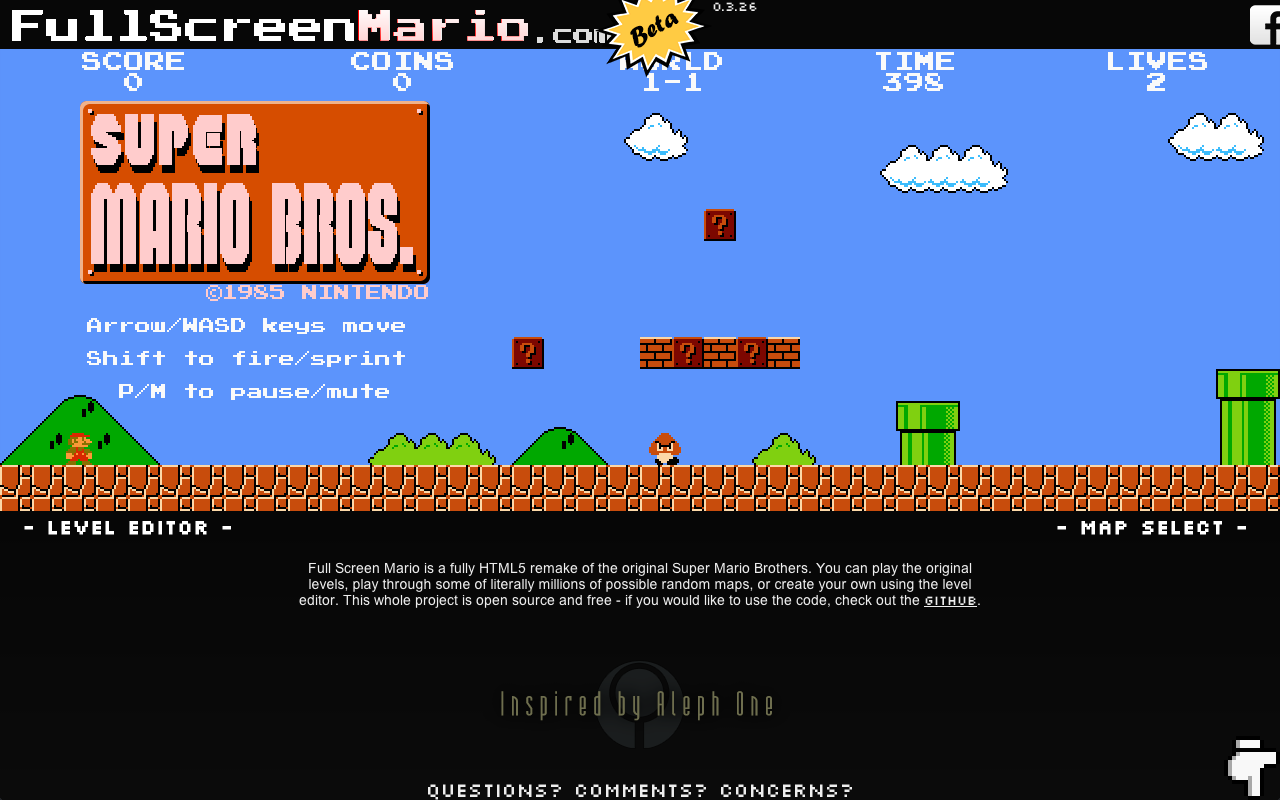 Net66 Web Design: The Wonders of HTML5 - Super Mario Brothers on