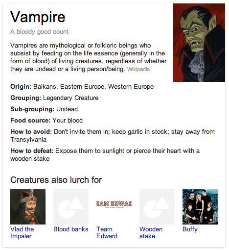 Vampire Knowledge Graph