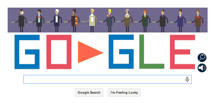 Dr Who Google Doodle