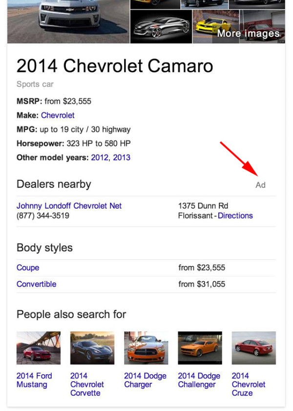 Knowledge Graph Adverts