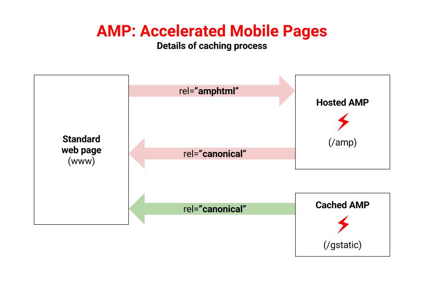 AMP caching process.