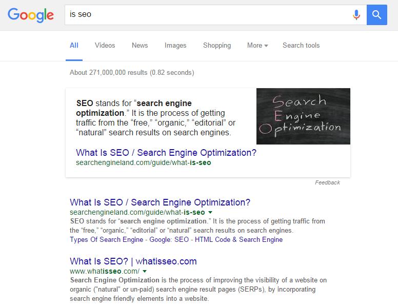 Google Queries screenshot.