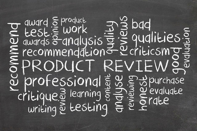 Product Reviews chalkboard.