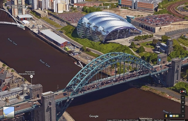 Tyne Bridge and SAGE Gateshead