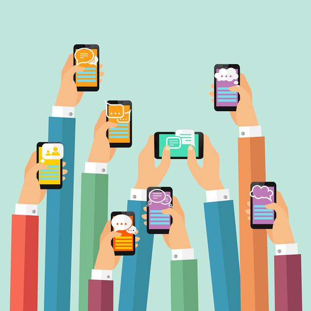 Hello Allo smartphone image by Macrovector