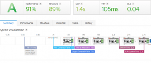 Page speed experience